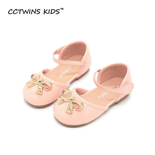 CCTWINS CRIANÇAS 2017 Princesa Verão Crianças Moda Kid Marca Pu Mary Jane couro Arco Cinta Sandália Bebê Menina Sapato Preto B659
