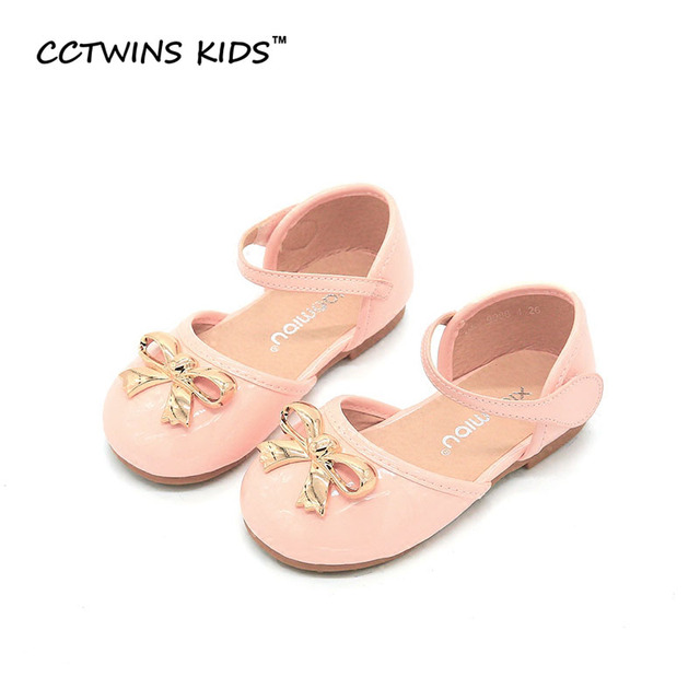 CCTWINS KIDS 2017 Summer Princess Children Fashion Kid Brand Pu Leather Mary Jane Bow Sandal Baby Girl Strap Black Shoe B659
