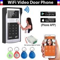 Wireless Wifi IP Digital Video Doorbell Door Phone System Support RFID Code Keypad Unlock Wireless Video