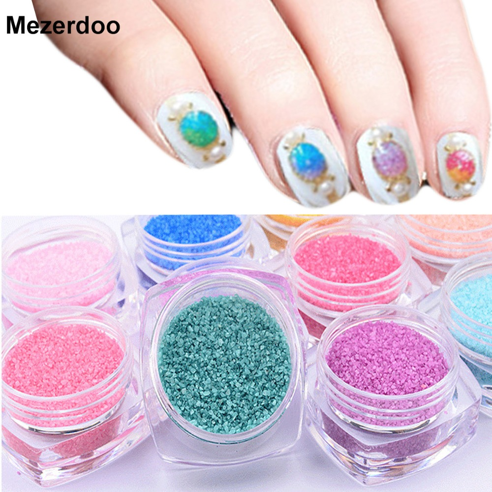 Nail Art Glitter Powder Decorations Candy C Stone Design Diy Uv Gel Polish Dust Decoration Tools M31 In From Beauty Health On
