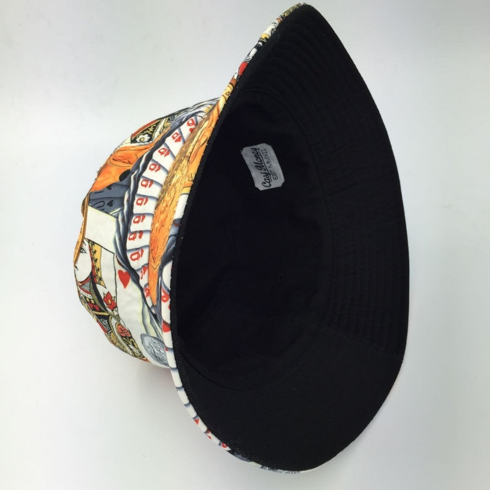 New galaxy Fashion Cool Women Men Sun Hat Black Fishing Hats New Design Summer  Bucket Hat spert Gorras Touca Poker bucket hats-in Bucket Hats from Apparel  ... d7f3c03e1145