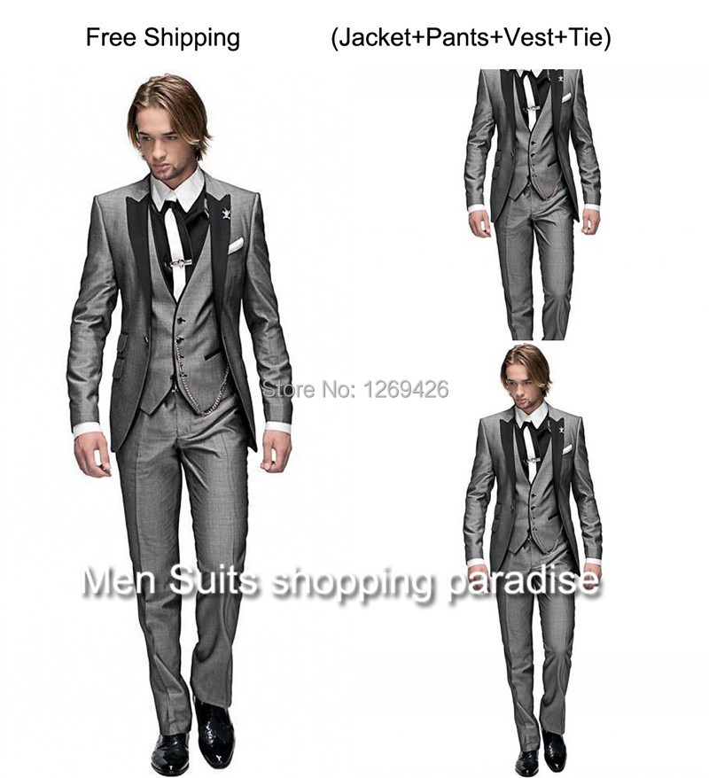 Aliexpress.com : Buy 2016 Customized black Design Groom Tuxedos ...