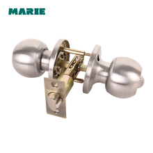 Stainless Steel Lock Round Ball Door Knobs Handles Passage Entrance Lock For Home Security Door Bedroom viborg deluxe sus304 stainless steel casting keyed security privacy entrance entry door mortise lockset lock set brushed