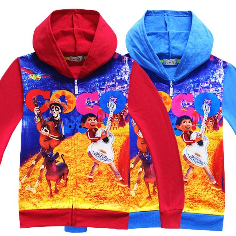 Movie Anime Coco Cosplay Costumes Autumn sweatshirts children's clothes Coco Autumn sweatshirts for Halloween