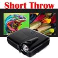 7500 Lúmenes Proyector DLP Obturador 3D Ultra Short Throw Proyector Digital HDMI VGA para Cursar Iglesia Reunión Bar