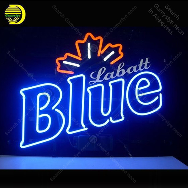 Neon Sign for Labatt Blue Club Neon Bulb sign handcraft Beer Bar glass neon signboard Decorate Hotel light Professional lamps