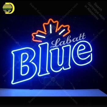 Letrero de neón para Labatt Blue Club neón bombilla señal manualidades cerveza Bar vidrio neón cartel decorar luces de Hotel lámparas profesionales