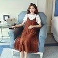 2019 костюм для беременных Новинка для беременных женщин летний рукав кружева сшивание двух частей платье юбка для беременных
