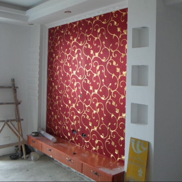 Red And Gold Living Room Wallpaper | Ayathebook.com