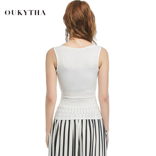Oukytha 2018 Summer Tank Top Women Sexy Low-cut Basic T shirt Tank Top Cotton Solid Causal Camisole Tops Female Vest 2090