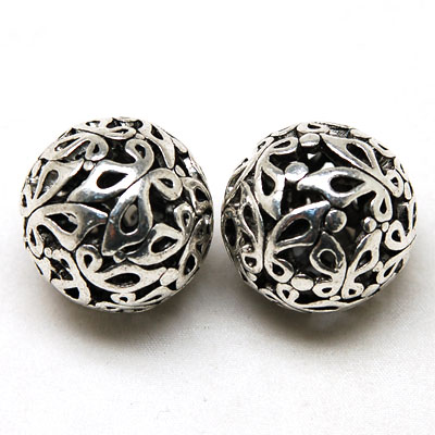 10 Pcs 25 MM Antique Silver Tibet Cast Hollow Metal Butterfly Filligree Loose Beads For Diy Jewelry Making