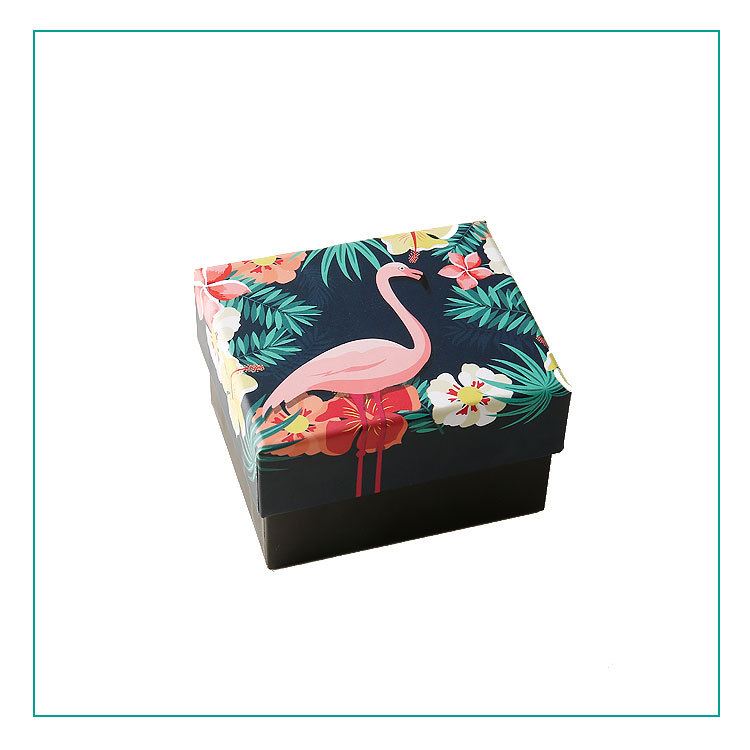 10 Pieces/Lot Flamingo Jewelry Candy Box Cookies Packing Boxes Party Suppies Packaging Gift Box Wedding Gifts for Guests
