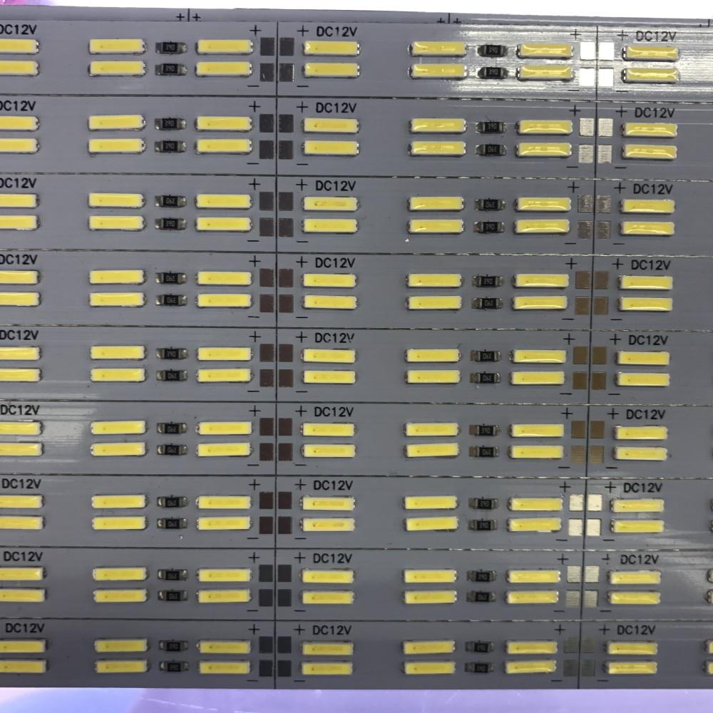5Pcs Double Row Led   Strip 8520 SMD Hard BAR Light 25cm 50cm DC12V 120leds/m
