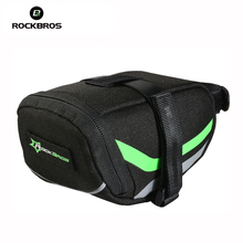 ROCKBROS Outdoor Sport Cycling Mountain Bike Back Seat Bicycle Rear Bag Nylon Saddle Bag Tail Pouch Package, Bike Accessories