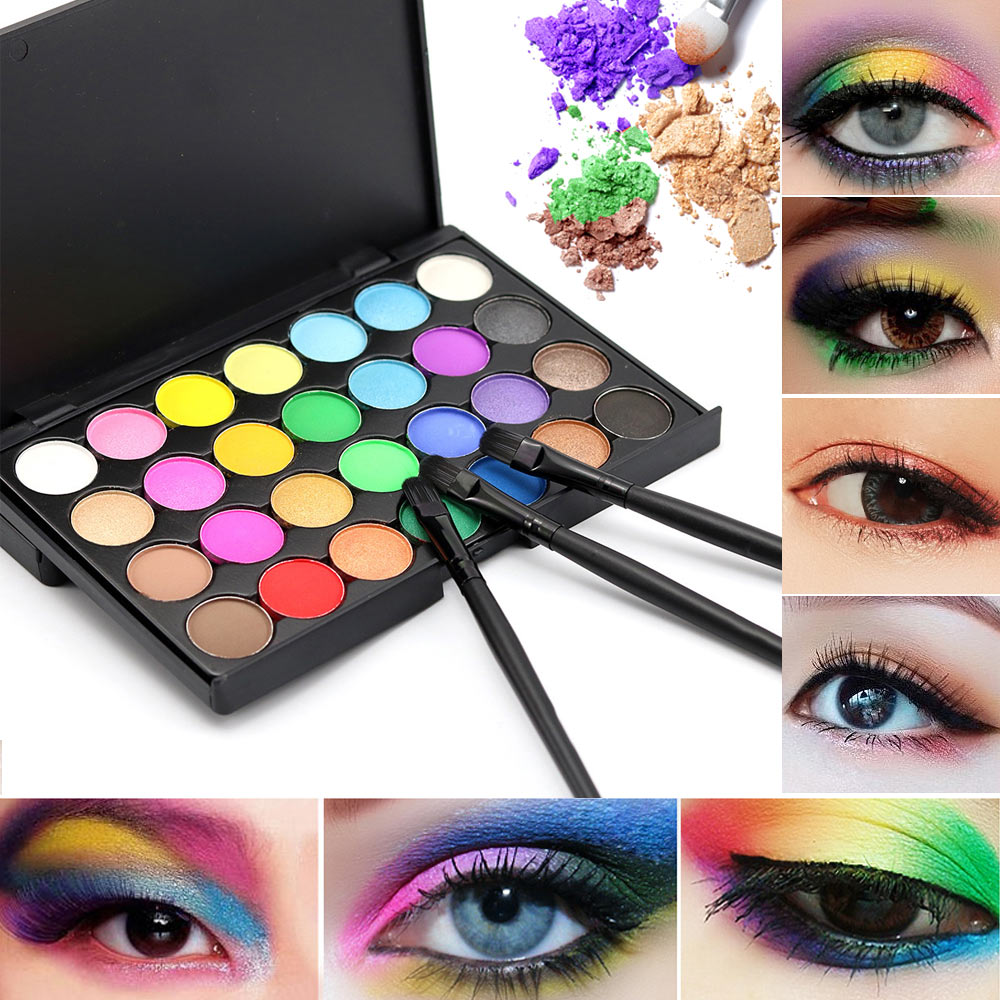 High Qualit 28 Colors Natural Pigment Matte Eyeshadow Palette with Brush Long Lasting Cosmetic Make Up Beauty Tools well