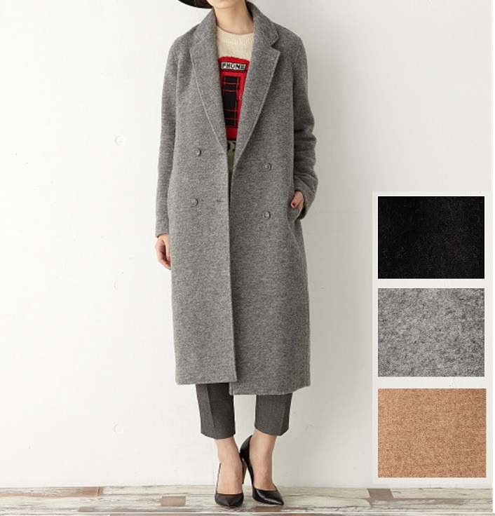 78% Wool Coat X long Camel Light Grey High Quality Women's ...