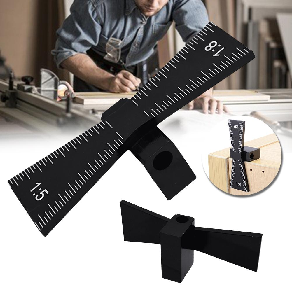 1/5 1/8 Dovetail Marker Marking Template Gauge Woodworking Tool For Hardwood Softwood Joint Gauge With Scale Dovetail Guide Tool