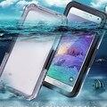 Nota 4 case casos de natação à prova d' água para samsung galaxy note 4 N9100 Nota 5 Tela Do Telefone Underwater Capa Protetora Capa Shell