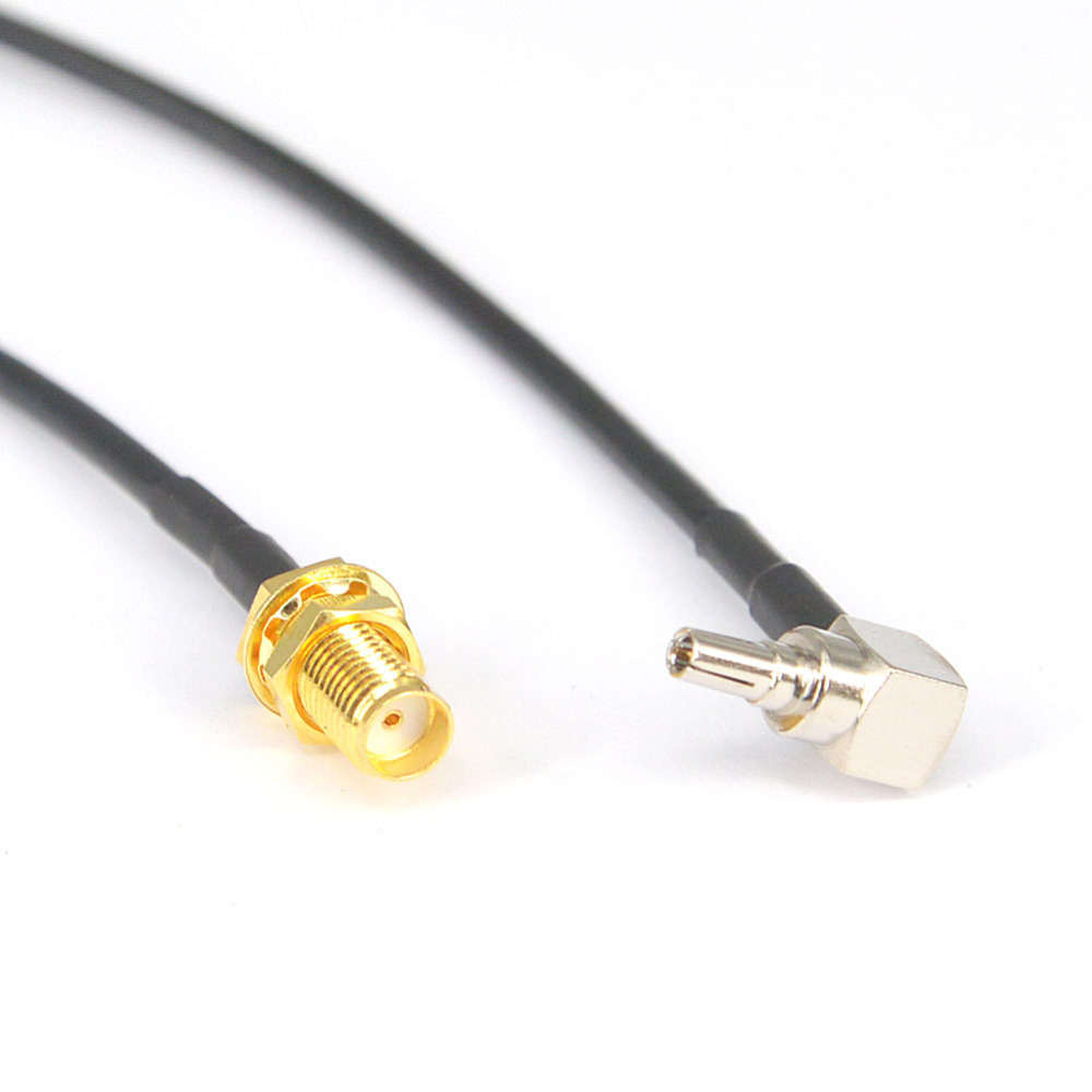 100 Pieces RG174 15cm CRC9 Male Plug Rightangle to SMA Female Jack Connector Pigtail Extension Cable-in Connectors from Lights & Lighting    1
