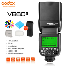 Godox Camera Flash V860II GN60 HSS TTL Speedlite Flash Trigger Flashlight for Canon Nikon Sony Olympus Fujifilm DSLR Cameras tl s ttl flash off camera shoe cord cable for sony dslr black