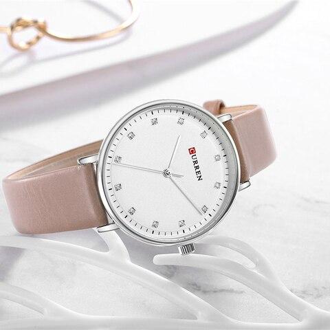 Top Brand CURREN New Fashion Leather Ladies Watches Analog Quartz Female Clock Luxury Women Rhinestone Watches Valentine Gifts Multan