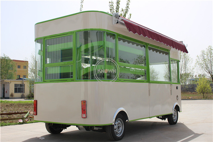 3.5m Customized Mobile Mini Food Truck Kiosk Cart Trailer For Sale