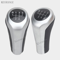 Head Gear Shift Knob Black Silver 5 Speed MT Gear Shifter For Manual BMW For BMW