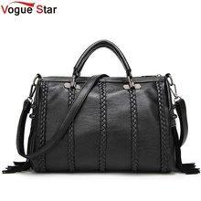 Vogue stern Marke Hohe Qualität Pu-leder Frauen Handtasche Mode Niet Umhängetasche Europäischen Stil Quaste Frauen Umhängetasche LB16