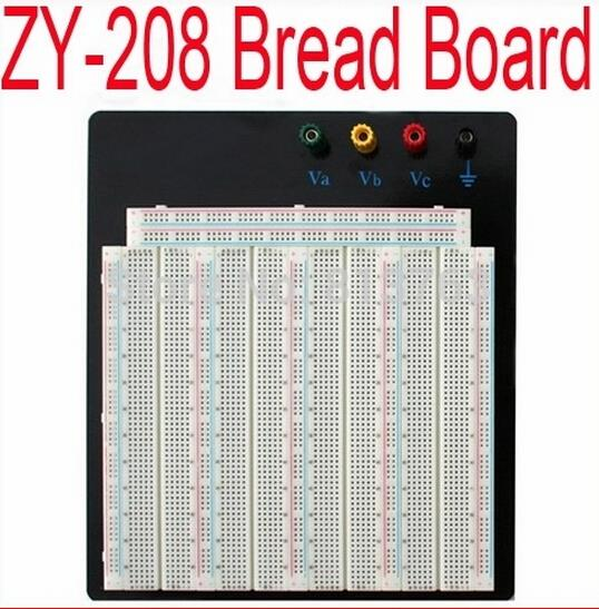 coolprice No Welding Solderless Breadboard Plate 3220 Tie-points Test Circuit Board ZY-208 24 hours dispatch /4pcs 830 points