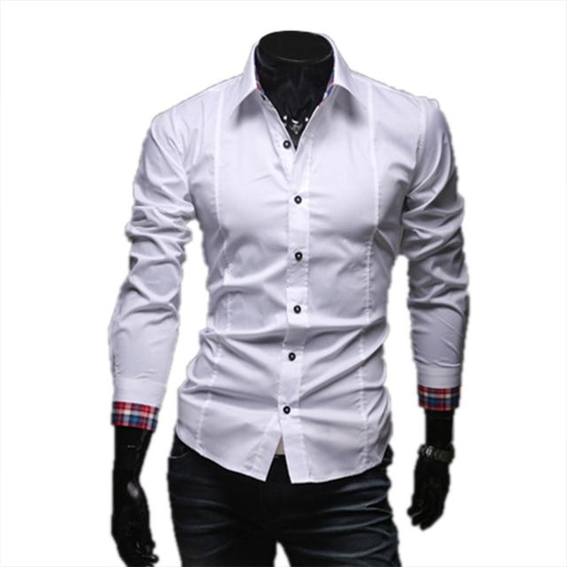 Brand New Leisure vetement homme Handsome Unique Neckline Shirts Unique Neckline Male Long Sleeve Comfortable Blouse