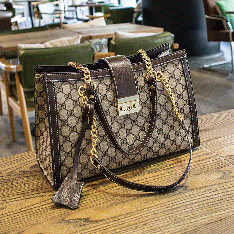 DOODOO 2019 New Women Message Bag PuHigh-quality Fashion Portable bag Chain Large capacity chain Tote Bag  designer bagsDOODOO 2019 New Women Message Bag PuHigh-quality Fashion Portable bag Chain Large capacity chain Tote Bag  designer bags
