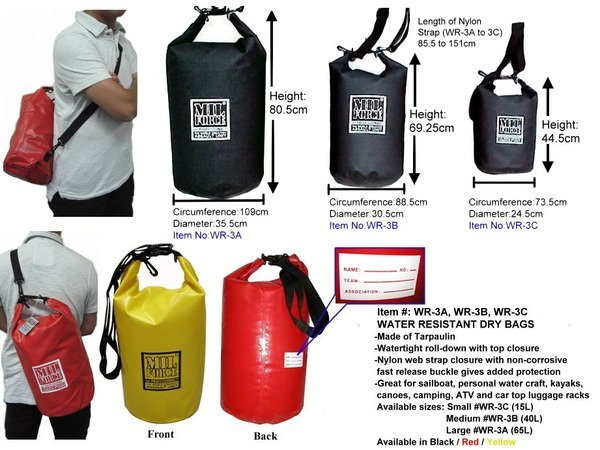 MIL FORCE WR 3C WATER RESISTANT DRY BAG (15L)-in Other Sports ... 220fbf511