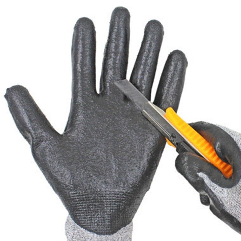 1 Paar Anti-abrieb Cut Beständig Sicherheit Arbeits Schutz Handschuhe Elektrische Schweißen Löten Metall Industrielle Taktische Handschuhe