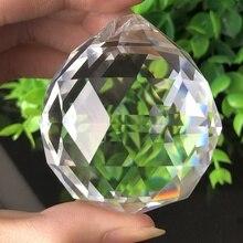 50 мм фэн шуй Висячие вырезанные стеклянные Кристальные шарики-сферы призмы Suncatcher подвеска «сделай сам» подвесной орнамент люстра часть
