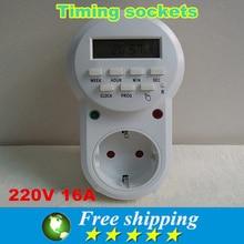 Hohe qualität europäische norm timer steckdose, American standard timer konverter, digitaler timer, programmierbare zeitrelais, 220 v 16A,