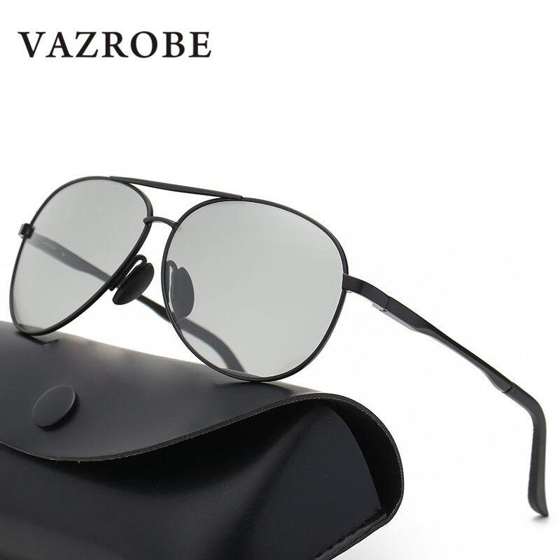 Vazrobe Photochromic Sunglasses Men Polarized Sun Glasses for Man Driving Goggles Anti Glare UV400 Case Free Quality Chameleon polarized sun glasses sun glasses sun glasses for men - title=
