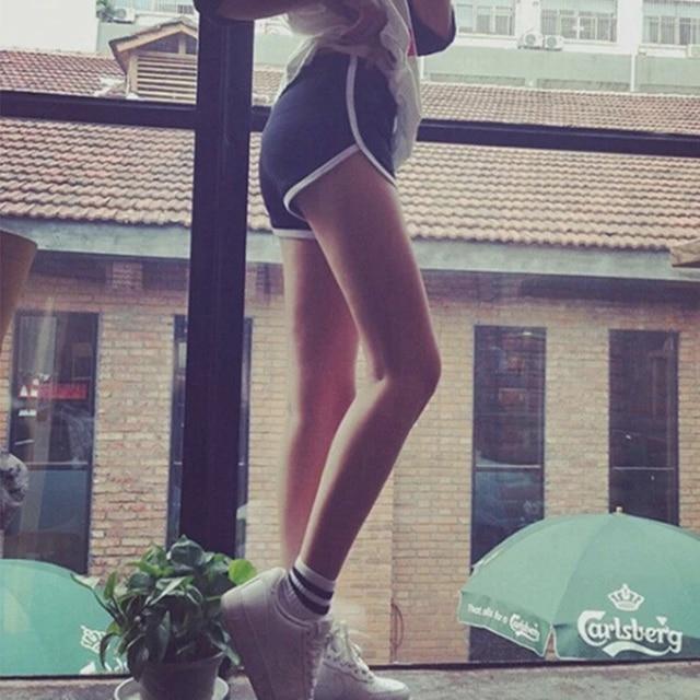 Fashion Stretch Waist Casual Shorts Woman High Waist Black White Shorts Beach Sexy Short Women'S Clothing 2