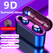 X9s TWS Bluetooth Earphones 9D Stereo Wireless Earbuds Mini Headset Waterproof Headfrees with Mic for Iphone Xiaomi SmartPhone a7 tws mini bluetooth earbuds sport stereo waterproof rechargeable box earphones wireless earbuds with mic headset for iphone