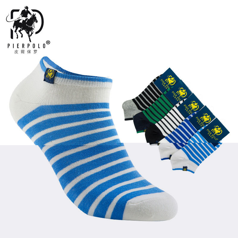 2018 Calcetines Hombre Casual Socks New Pier Polo Spring And Summer Mens Cotton Striped Cloth Standard Wholesale