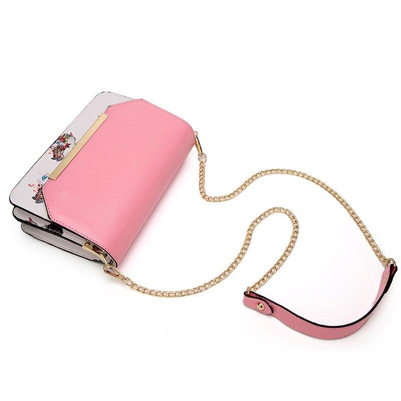 Delle Nero Qinranguio Alta rosso Il Per Donne Shoulder Del 2018 colore Le Modo Di Catene Bag Qualità Crossbody Rosa Sacchetto Borse Messenger gUnrqxOg
