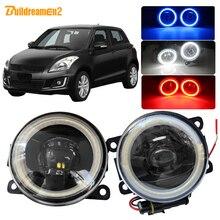 Buildreamen2 для Suzuki Swift MZ EZ хэтчбек 2005-2015 автомобиля H11 светодиодный фонарь сборки глаза ангела DRL дневного света 12 V