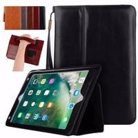 BINUODA Voor iPad Air Leather Case 2017 Crazy Horse Patroon Brifecase stijl PU Lederen Portemonnee Case Cover voor iPad Air iPad 5 fonds