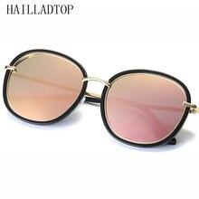 HAILLADTOP УФ-защита Óculos de sol Металл плюс ПК солнцезащитные очки  овальная рамка поляризованные линзы 5acda53bed23e