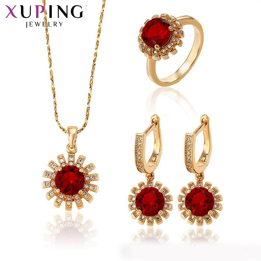 Deaxuping Fashion Sets 2017 New Arrival Luxury Style Jewelry Sets Gold Color Plated