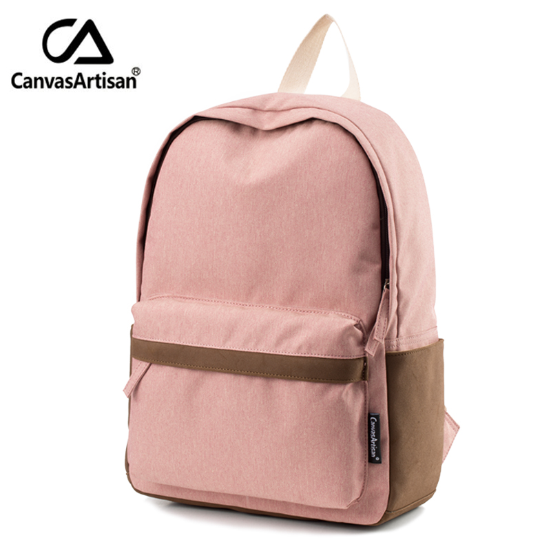 Canvasartisan Brand New Women Youth Canvas Backpack School Bags for Teenager Girls Bookbag Female Laptop travel Backpacks 2 Size brand canvas men women backpack college high middle school bags for teenager boy girls laptop travel backpacks mochila rucksacks
