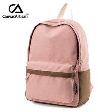 Canvasartisan Фирменная Новинка женские Молодежные холст рюкзак школьные сумки для девочек-подростков рюкзак женский ноутбук туристические рюкзаки 2 размера