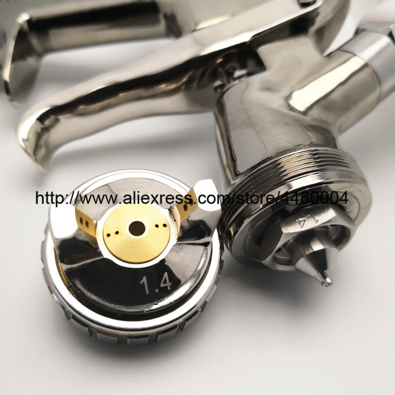 Image 4 - K 400 High Quality Spray Gun 1.4mm 1.7mm LVMP AIR SPRAY GUN gravity stainless steel 600ml cup auto Car face Paint-in Spray Guns from Tools on