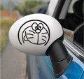 8 pçs/lote Frete grátis Lovely fashion doraemon car Rear view espelho lateral porta espelho etiqueta e adesivo do corpo do carro styling