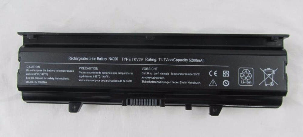 New Battery for Dell FMHC1 FMHC10 KG9KY M4RNN P07G P07G001 04J99J 0FMHC1 0FMHC10 0KG9KY 0M4RNN 0PD3D2 0X3X3X 0YPY0T 5200mAh