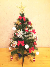 1set 2016 new year 60cm Christmas Tree with Bows snow Santa Claus christmas decorations for home Xmas merry christmas ornaments